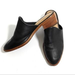 Soludos Venetian Black Leather Mules